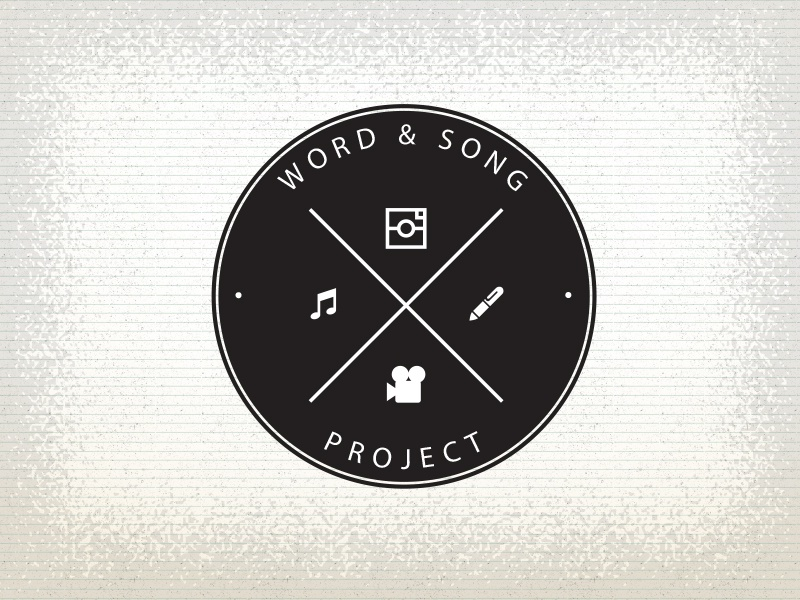 Word And Song Project Logo illustration film song quotes