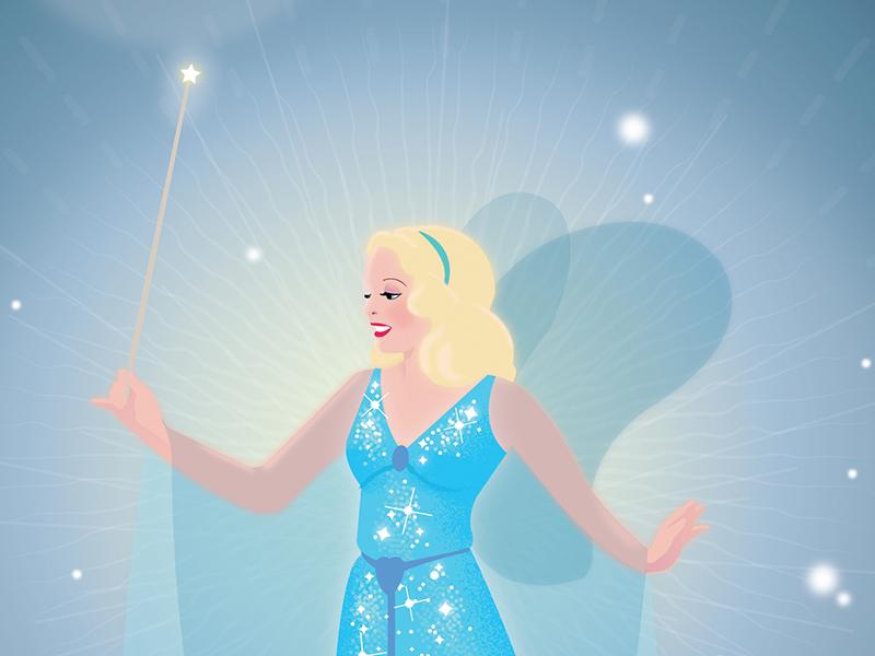 Blue Fairy Dribbble pinocchio disney illustration