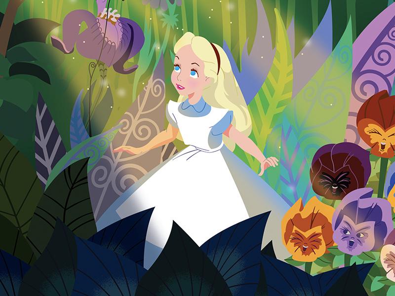 Alice in Wonderland Poster disney poster alice in wonderland illustration