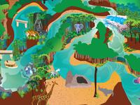 Adventureland Map Dribbble