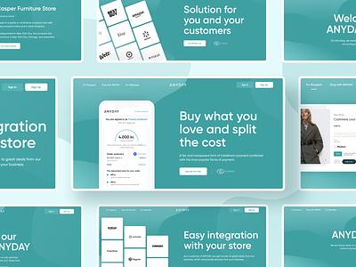 ANYDAY. Desktop version on the homepage desktop homepage figma ux ui typography design