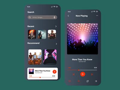 Music Player App Concept ux design app ui