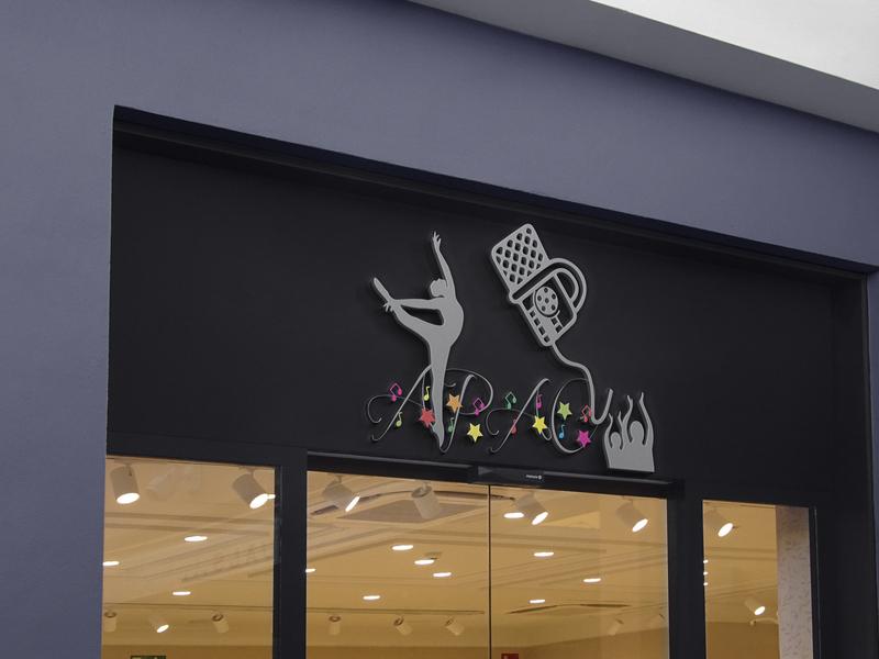 LOGO FOR DANCING ACADEMY logo design logo logodesign flat minimalist luxury illustration graphic design design branding
