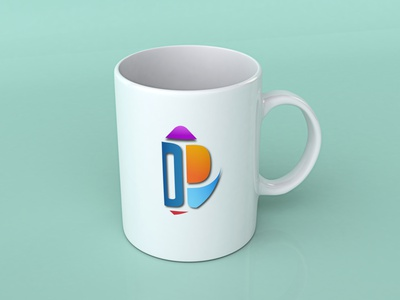 with  Cup Mockup logo design illustration logo media illustrator