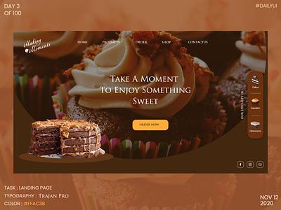 Dailyui003 - Landing Page webdesign cake shop landingpage xd design ui ux dribbble design dailyuichallenge dailyui daily 100 challenge