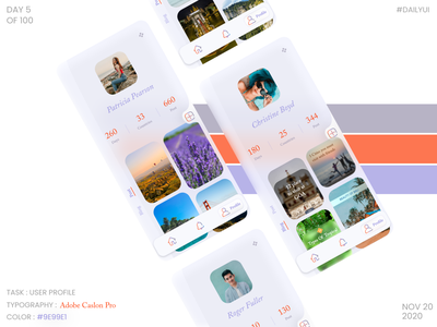 dailyui006 - User Profile socialmedia userprofile dailyui006 ux ui dribbble design dailyuichallenge dailyui daily 100 challenge
