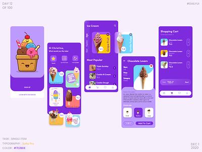 Dailyui012 - E-commerce Shop ( Single item) single product icecream app ui icecream vector illustration ux ui dribbble design dailyuichallenge dailyui daily 100 challenge
