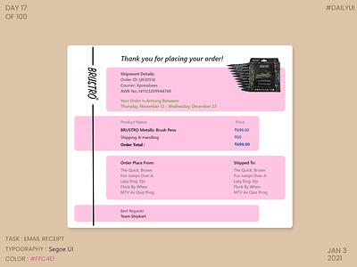 Dailyui017- Email Receipt email receipt dailyui017 ux ui dailyuichallenge dailyui daily 100 challenge dribbble design