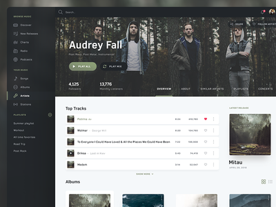 Spotify Facelift   Music Streaming UI ui cover app web player play deezer playlist album music streaming spotify