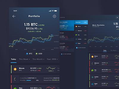 Crypto App wallet trade dashboard desktop iphonex ios portfolio exchange cryptocurrency crypto currency crypto bitcoin
