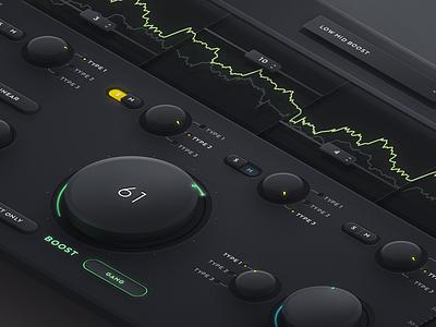 Audio Plugin ui wave sound boost eq equalizer logic logic pro daw vst plugin audio