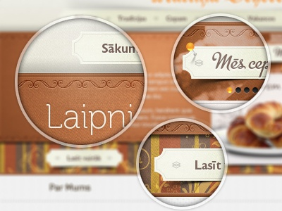 Bakery site elements brown white orange chocolate bakery cookies texture pattern shadow fold