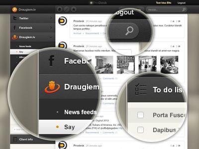 Dashboard dashboard blur blurred social media admin panel zoomed zoom comment post texture pattern dark ui sidebar menu side dropdown
