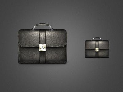 Briefcase Icon icon briefcase portfolio leather texture metal bag