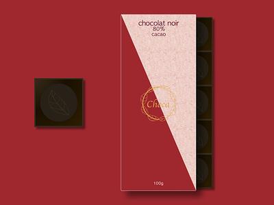 Choca 80% cocoa tablet packaging package logo design logo emballage design graphique graphic design designer portfolio design creative cocoa chocolaté package chocolate packaging chocolate chocolat cacao branding brand art