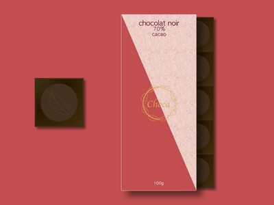 Choca 70% cocoa tablet packaging package logo design logo emballage design graphique graphic design designer portfolio design creative cocoa chocolate packaging chocolate package chocolat chocolate cacao branding brand art