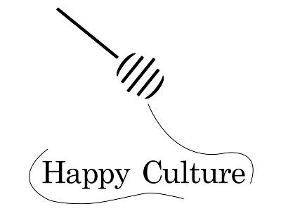 Logo Happy Culture healthy food illustration food logo food miel honey branding brand designer graphique logo design design graphique designer portfolio graphic design graphic designer logo design