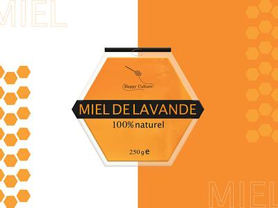 Miel de lavande natural packaging design bee lavender honey miel food packaging food package packaging branding brand designer graphique logo design design graphique designer portfolio graphic design graphic designer logo design