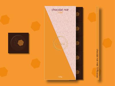 Choca honey chocolate food package miel honey chocolate packaging chocolate chocolat food packaging food package packaging branding brand designer graphique logo design design graphique designer portfolio graphic design graphic designer logo design