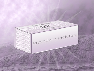 T Time lavender black tea boîte de thé tea brand packaging designer tea lavande lavender packaging design tea package tea packaging packaging designer graphique branding brand logo design logo design graphique designer portfolio graphic design graphic designer design