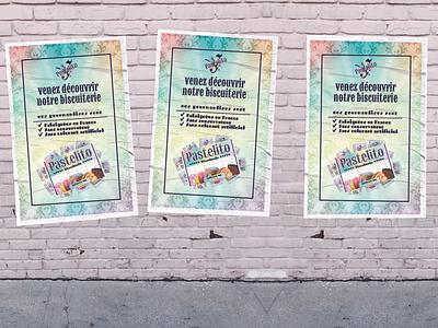 Pastelito promotional poster affiche food brand food poster poster promotional poster image de marque marque branding illustration designer graphique logo design graphique designer portfolio graphic design graphic designer design