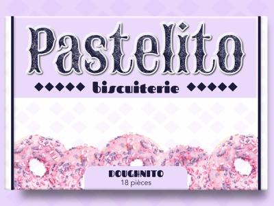 Pastelito - Doughnito box food package food packaging packaging design box design biscuit box cookie box brand branding illustration designer graphique logo design graphique designer portfolio graphic design graphic designer design