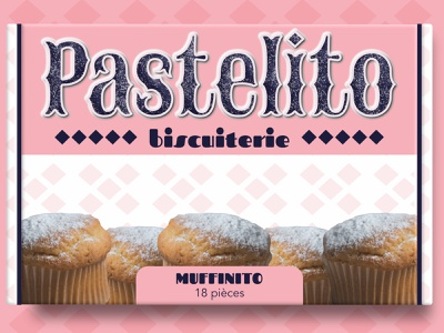 Pastelito - Muffinito box muffin food package food packaging packaging packaging design box design box food brand biscuit brand brand logo design branding illustration designer graphique logo design graphique designer portfolio graphic design graphic designer design