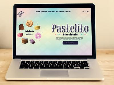 Pastelito website landing page computer web design website food food brand brand branding illustration logo designer graphique design graphique designer portfolio graphic design graphic designer design