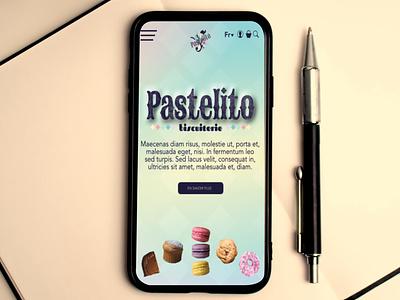 Pastelito - responsive site responsive smartphone phone internet web mobile 1st website web design brand branding illustration designer graphique logo design graphique designer portfolio graphic design graphic designer design