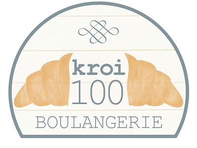 Kroi100 Boulangerie logo treat logo boulangerie french food french croissant typography font logo design bakery boulangerie brand branding illustration logo designer graphique designer portfolio design graphique graphic designer graphic design design