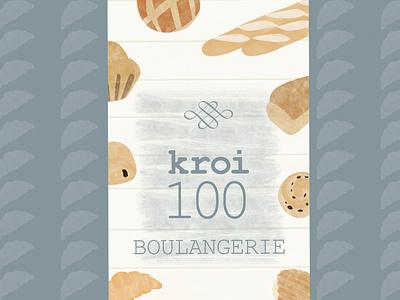 Kroi100 presentation poster design poster bakery croissant boulangerie brand branding illustration designer graphique designer portfolio design graphique graphic designer graphic design design