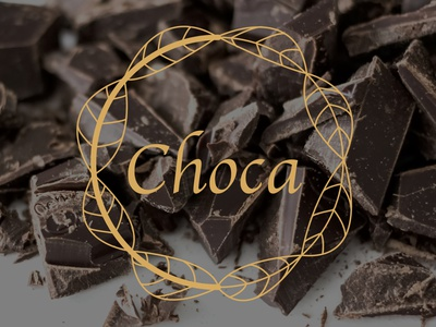 Rebranding Choca (chocolate brand) chocolat marque brand gold food logo food chocolate logo chocolate logo presentation logo designer logo design logo illustration branding designer graphique designer portfolio design graphique graphic designer graphic design design