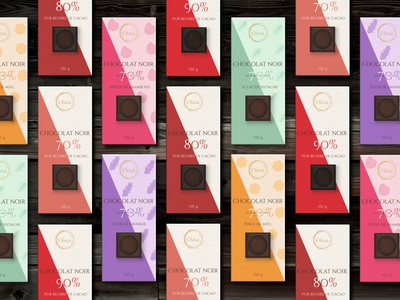 The Choca collection raspberry honey lavender pattern chocolat food emballge package chocolate packaging chocolate brand branding illustration logo designer graphique designer portfolio design graphique graphic designer graphic design design