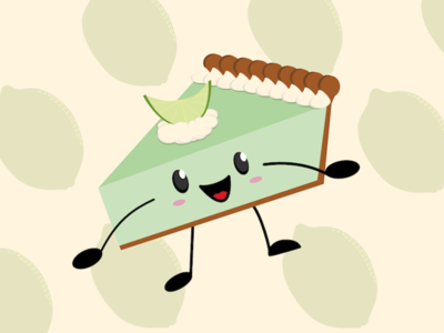 Key Lime Pie WIP vector cute cartoon pie illustration graphic design