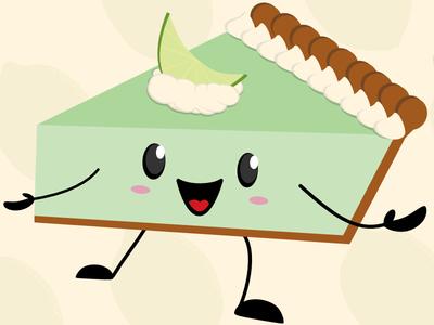 Key Lime Pie lime cute pie illustration