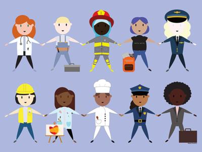 T-shirt design jobs empowerment children girls illustration