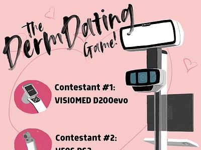The Derm Dating Game procreate graphic design illustration