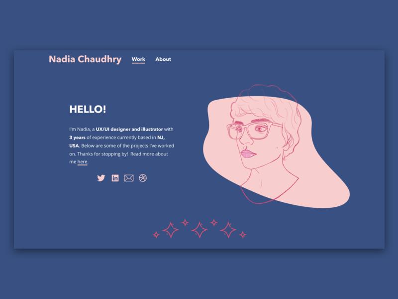Personal Portfolio Website uiux vector graphic design website illustration portfolio