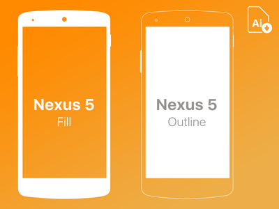 Nexus 5 Free Mockup .ai nexus phone android device vector android device android mobile vector .ai mockup free nexus 5 nexus