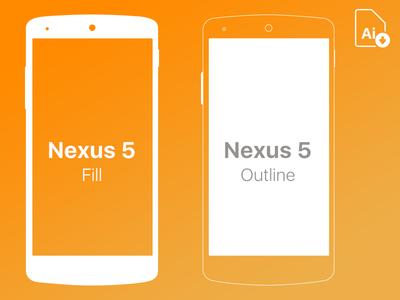 Nexus 5 Free Mockup .ai