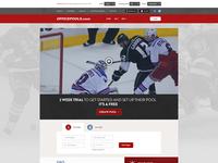 Sports Fantasy Website Concept