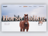 Horse Riding Landing Page