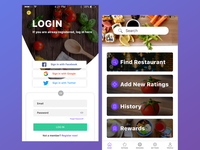 Restaurants App Design