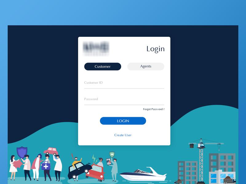 Login page design ui ux login signup sign in illustration