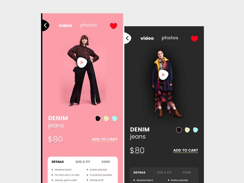 eCommerce Clothing App ecommerce color clothing cart ux ui shopping iphone ios fashion app