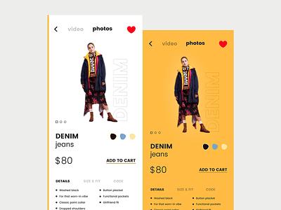 eCommerce App ux ui shopping iphone ios fashion ecommerce color clothing cart app