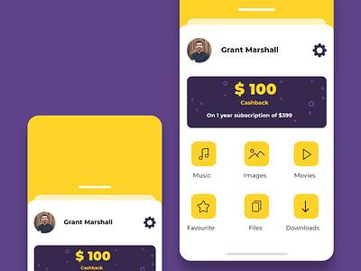 Profile Screen ux ui profile design profile ios design concept app concept adobe xd