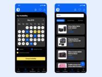 Calendar & Marketplace Screen Design