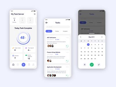 Tasks Manager create cards daily mobile app clean team task management task list pricing ux ui mobile design app