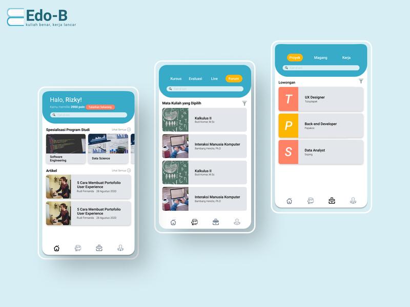 Edo-B Mobile Apps app ui ux